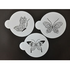 FOUR-C 3Pcs Plastic Coffee/Cake Decorating Stencil Template DIY Cake Tools