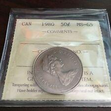 1980 Canada 50 Cent ICCS MS-65!