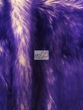 FROZEN SHAG FAUX FAKE FUR LONG PILE FABRIC - Purple - BY YARD COSTUME SHAGGY