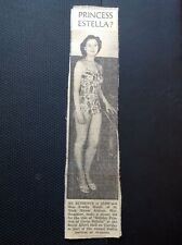 m1-5 ephemera 1949 Picture Walthamstow Estella Woolf Holiday Princess