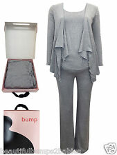 BUMP BOX MATERNITY GIFT SET GREY MARL YOGA GYM LOUNGEWEAR SIZE SMALL 8-10 BNIB