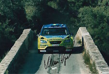Marcus Gronholm Hand Signed 12x8 Photo Ford Rally.