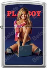 Zippo Playboy October 2006 Cover Satin Chrome Windproof Lighter NEW RARE