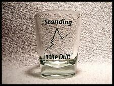 """Shot Glass """"Standing in the Drift """" Ski Snow Hill Colorado Slopes Winter New 111"""