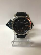 Citizen Eco-Drive AW1150-07E Black Date Dial Black Canvas Band Men's Watch #8