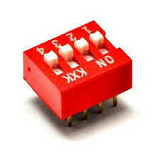 1Pcs New Arrival DIP Red 2.54mm Pitch 8 Pins 4 Positions Ways Slide Type Switchs