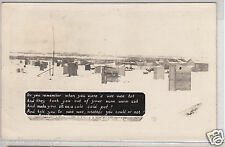 RPPC - Boulder City, NV - Panoramic View of Town Latrines - 1938