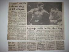 Louisville Courier Journal 1984. Greg Page vs David Brey! Tim Witherspoon boxing