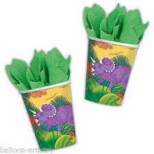 8 Prehistoric Dino Dinosaur Party Disposable Paper Cups