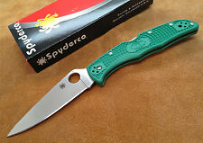 Couteau Spyderco Endura 4 Green Acier VG-10 Manche FRN Made In Japan SC10FPGR