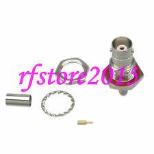 1pce Connector BNC female jack Bulkhead crimp RG58 RG142 LMR195 RG400 RF COAXIAL