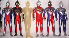 "ULTRAMAN TIGA ALL 6 PHASES GIANT 12"" VINYL MINT VERY!RARE UNKNOWN MAKER GODZILLA"