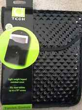 """STUDIO C Tech iPad Universal Tablet Sleeve Case Padded Cover Fit 10"""" Black"""