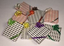 Dollhouse Miniature 1:12 Personalized Name Wrapped Gift Box w/ Ribbon & Bow