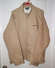 MEN'S SAILOR JERRY BEIGE ZIP FRONT JACKET WITH TEX GIRL ON BACK NOS WITH TAG XL