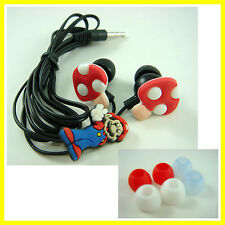 Super Mario Bros Headphone Headset Earphone Earbud For iPhone MP3 /4 + GIFT