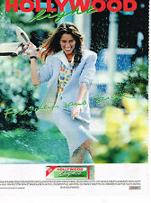 PUBLICITE ADVERTISING 025  1990  HOLLYWOOD LIGHT  chewing-gum