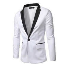 Men's New Slim Fit One Button Splice Casual Suit Blazer Coats Jackets Tops
