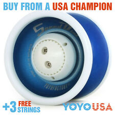 YoYoFactory Speed Dial Adjustable Yo-Yo *B-GRADE* - Blue + FREE STRINGS