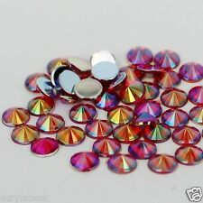 288x 6mm ss30 Red AB Flat Back Pointed Rivoli Acrylic Rhinestones Gems C11