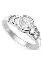 Charles & Colvard Forever Classic Round 6.0mm Moissanite Ring-size 5, 0.80ct DEW