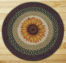 "SUNFLOWER 100% Natural Braided Jute Rug, 27"" Round, Capitol Earth Rugs"