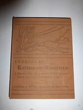 Stories by Katherine Mansfield, A Selection by J. Middleton Murry, 1930 HB B90