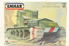 Emhar MkA WHIPPET WWi Medium A Tank 1918 -  7204 - Plastic Model Kit -1/72 Scale