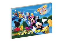 MICKEY MOUSE CLUBHOUSE PERSONALISED WOODEN DOOR PLAQUE