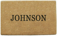 """PLAIN PERSONALIZED COCO DOORMAT 38"""" x 60"""" - made from coconut fibers"""