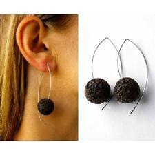 Ohrringe, Lava-Stein, Silber 925, NEU -  Designerstück - Handmade