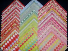 12x12 Scrapbook Paper My Minds Eye MME Bright Polka Dots 60 Wholesale Lot Kit