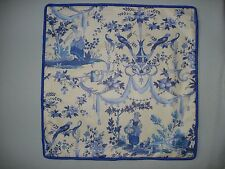 FRENCH BLUE TOILE ACCENT DECORATOR TOSS THROW PILLOW COVER in Shades of Blue