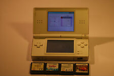 Nintendo DS Lite WHITE Handheld System JOB LOT 4 GAMES