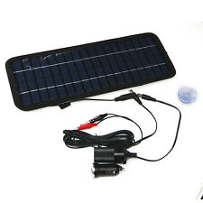 12V4.5W Semi-flexible Solar Panel Black Portable Car Boat Power Battery ChargerS
