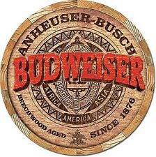 Budweiser Keg End round metal wall sign  300mm diameter (sf)