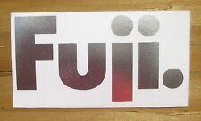 """Stickers Fuji Retro Pro Cut Silver 4"""" x 2"""""""