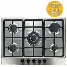 SIA SSG701SS 70cm 5 Burner Stainless Steel Gas Hob With Wok Burner/FFD & LPG Kit