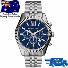 Michael Kors MK8280 Men's Lexington Navy Dial Chronograph Designer Watch - NEW