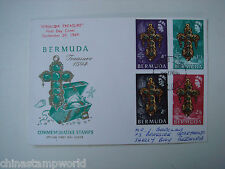 old Bermuda cover,FDC, four stamps dated 29 Sept.1969