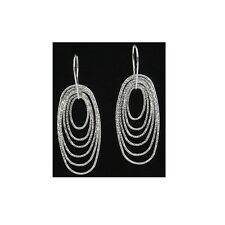 60mm Silver Dangling Fancy Earrings With Hook Style Backing #PVE12