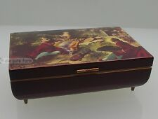 Stil SCHMUCKDOSE HOLZ mit MALEREI - Original DEICHERT - MUSICAL-BOX BALLERINA