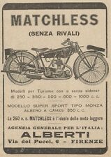 Y7841 Moto MATCHLESS - Pubblicità d'epoca - 1927 Old advertising