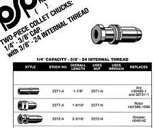 Two Piece Collet Chuck Assembly, PSP2271-A, Replaces ARO 30489-1 & 30731-1,
