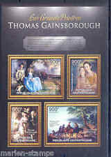 CENTRAL AFRICA 2012 THOMAS GAINSBOROUGH  SHEET MINT NH