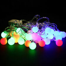 5.5M 28LED Bulbs Christmas Fairy Party String Lights Waterproof Color Xmas Decor