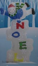 "Christmas Holiday Home LED Twinkling Noel Snowman Battery Operated 29"" H NIB"