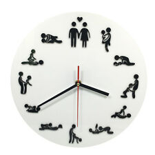 Unique Sexual Position Clock / 24Hours Sex Clock / Novelty Adult Only Wall Clock