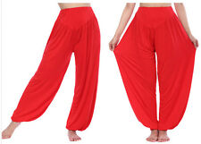 Women Harem Genie Yoga Pants Aladdin Hippie Baggy Trousers Hip Pop Dance Bottoms