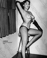 Gorgeous Photograph 50's Burlesque Brunette Bombshell CAPRICE Super Sexy Risque